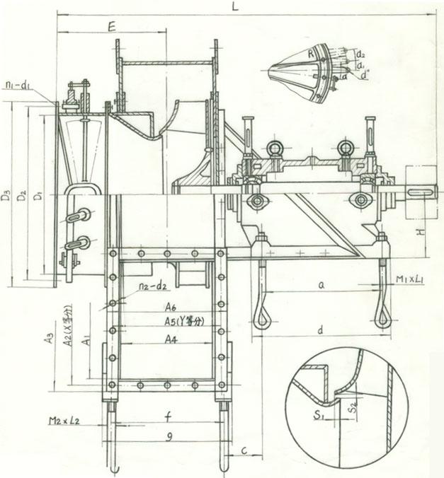 """的烟气介质计算。 三、风机的型式和结构  引风机制成单吸入,机号有4、5、6.3、8、10、12.5六种。  引风机可制成顺时针旋转或逆时针旋转两种型式。从电动机一端正视,叶轮工作时顺时针旋转称为顺时针旋转风机,以""""顺""""表示;逆时针旋转称为逆时针旋转风机,以""""逆""""表示。  风机的出口位置以机壳的出风口角度表示。""""顺""""和""""逆""""均可制成0°、45°、90°、135°、180°"""